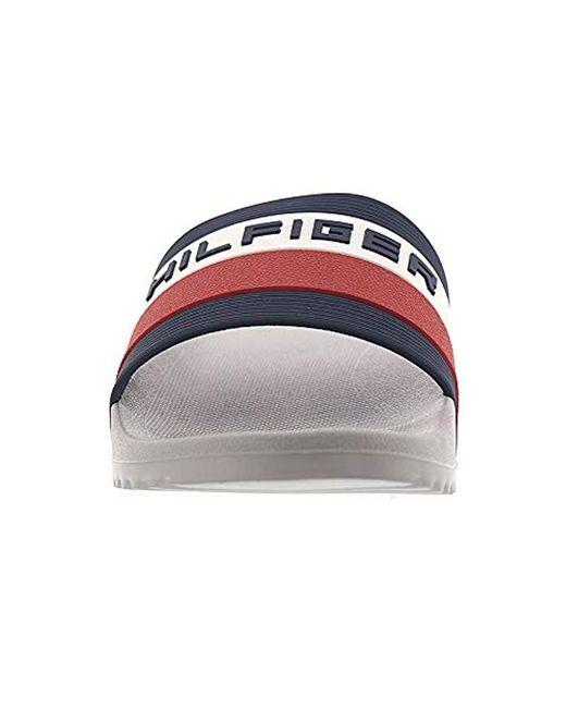 2fa751f5c Lyst - Tommy Hilfiger Raj Stripe Slide Sandal in Gray for Men - Save 28%