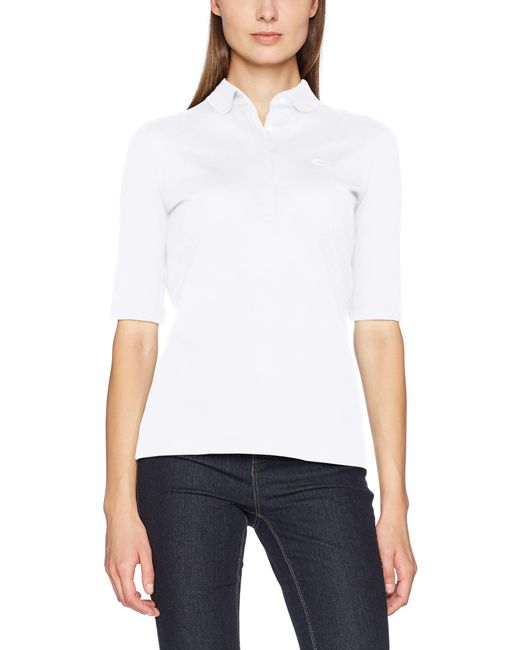 Lacoste White Pf7844 Poloshirt