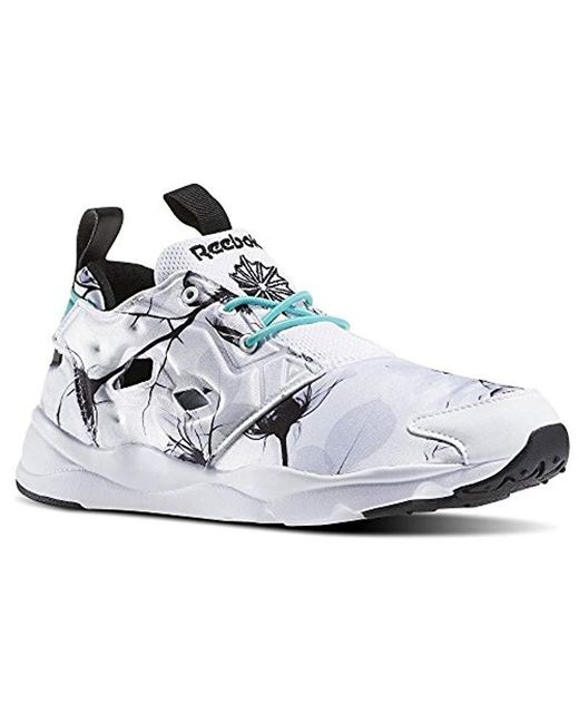 Reebok - White Furylite Graphic Fashion Sneaker - Lyst