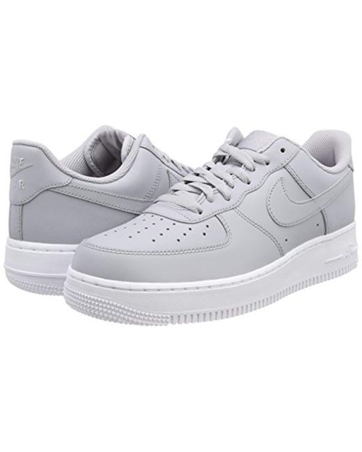 Men's Gray Air Force 1 '07 Basketball Shoes