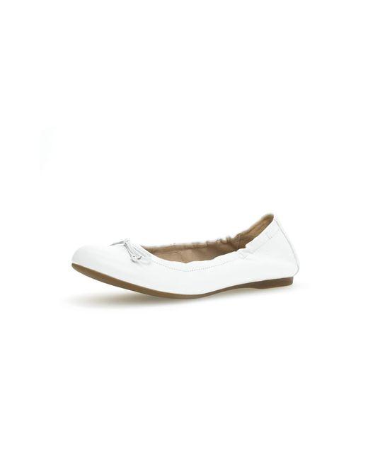 Gabor White Ballerinas