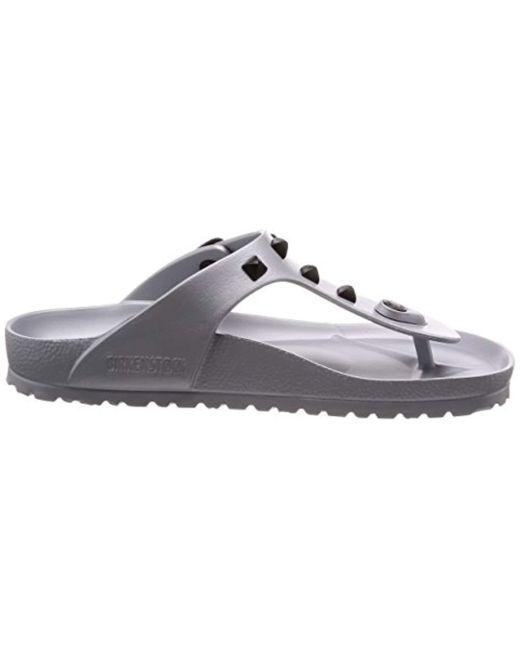 42efe825fe154 Birkenstock Gizeh Eva Toe Post Sandals in Metallic - Lyst