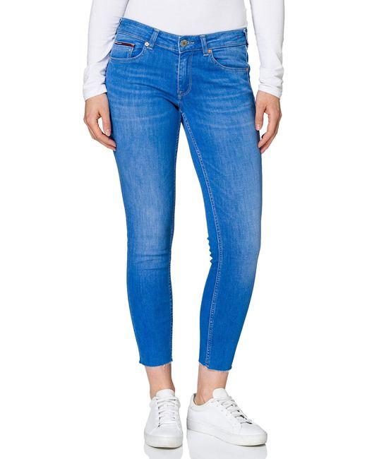 Sophie LR SKNY Ankle LNMBS Pantaloni di Tommy Hilfiger in Blue