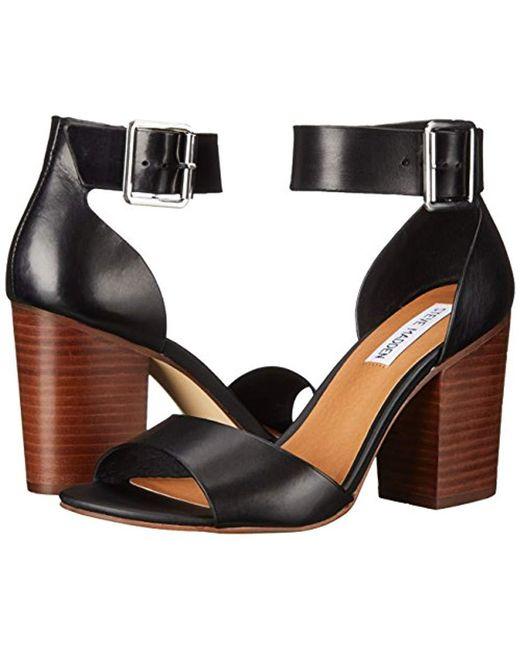 dfc7e883374 ... Steve Madden - Black Estoria Dress Sandal - Lyst ...