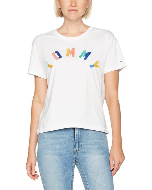 Tommy Hilfiger White Short Sleeve Crew Neck T-shirt