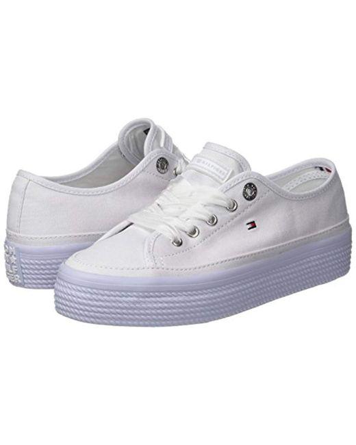 4fea9deb ... Tommy Hilfiger - Blue Pastel Flatform Sneaker Low-top - Lyst ...