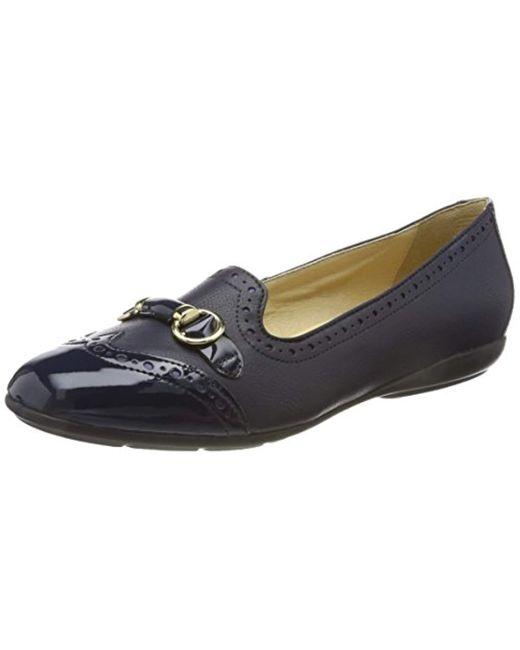Geox Blue D Annytah C Closed Toe Ballet Flats