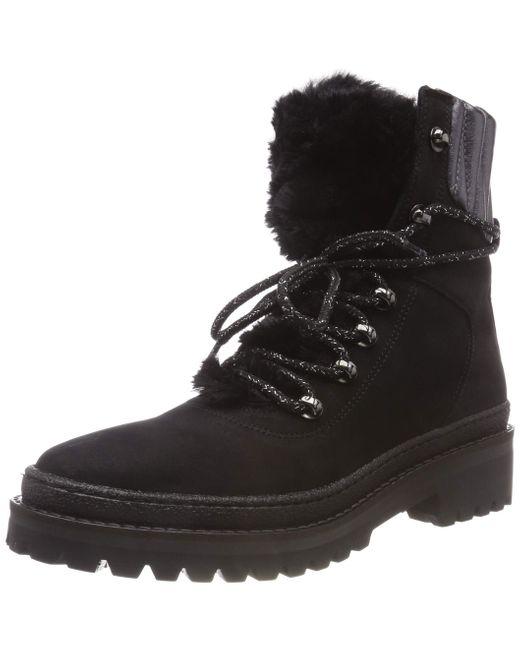 Warmlined Lace Up Boot Tommy Hilfiger de color Black