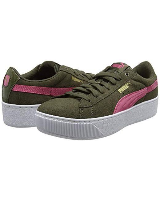 dove comprare migliore a buon mercato vendita outlet PUMA Vikky Platform Low-top Sneakers in Green - Save 36% - Lyst