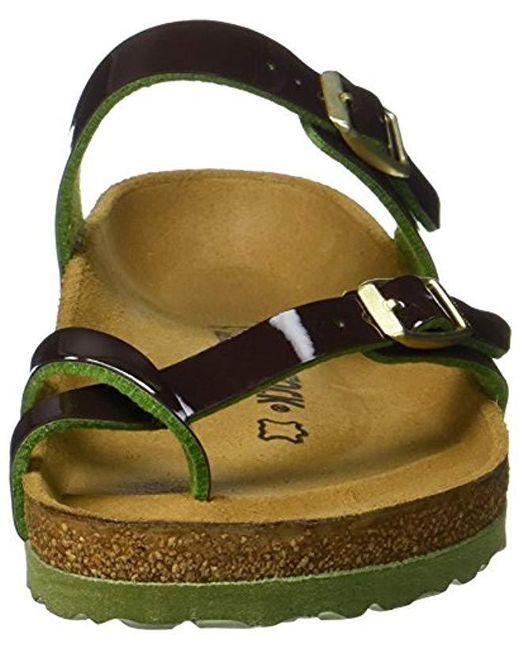 5dd17bb1f1a6 ... Birkenstock - Green Mayari Birko-flor Toe Post Sandals - Lyst ...