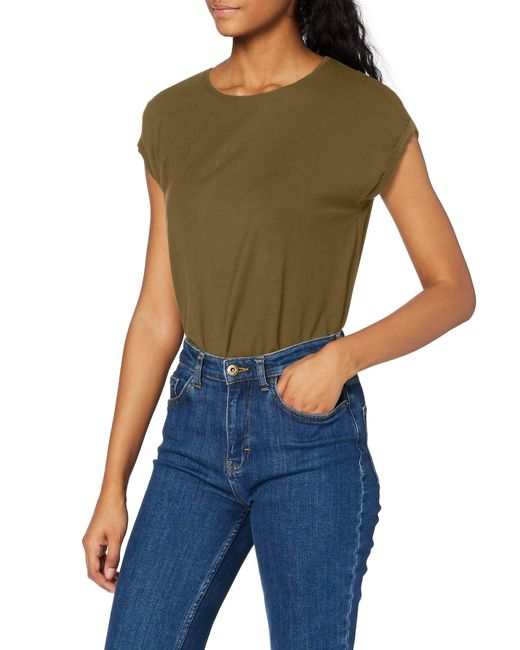 VMAVA Plain SS Top GA Noos T-Shirt di Vero Moda in Green