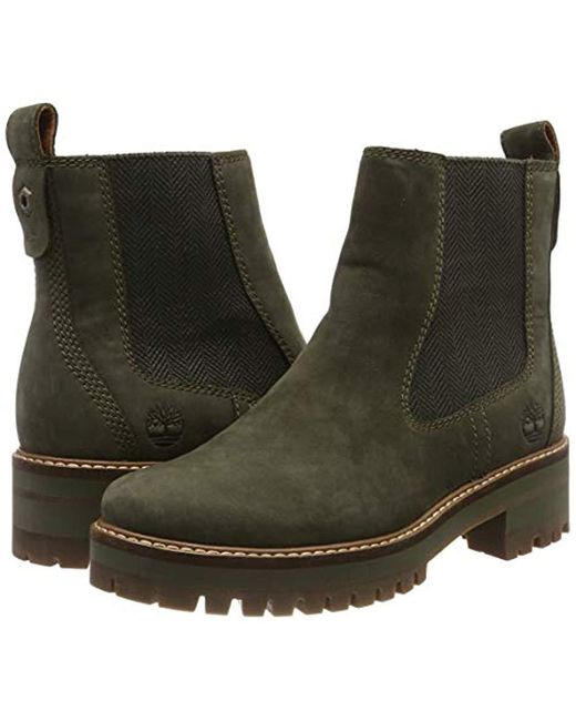 6806ed46606 Timberland Courmayeur Valley Olive Leather Chelsea Pull On Ankle ...
