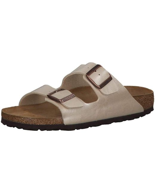 Schuhe Arizona Birko-Flor Graceful Schmal Graceful Pearl White di Birkenstock