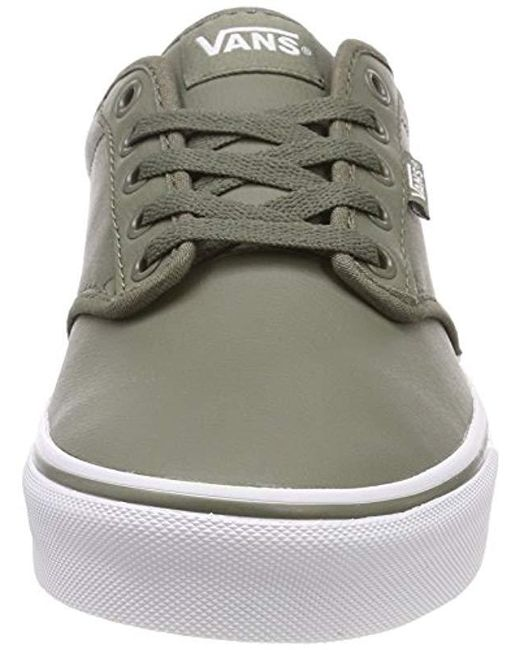 Vans Atwood Synthetic Leather Low-top Sneakers in Green for Men - Lyst