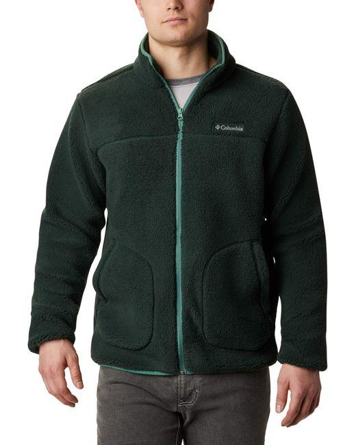 Rugged Ridge II Sherpa Fleece Giacca di Pile di Columbia in Green da Uomo