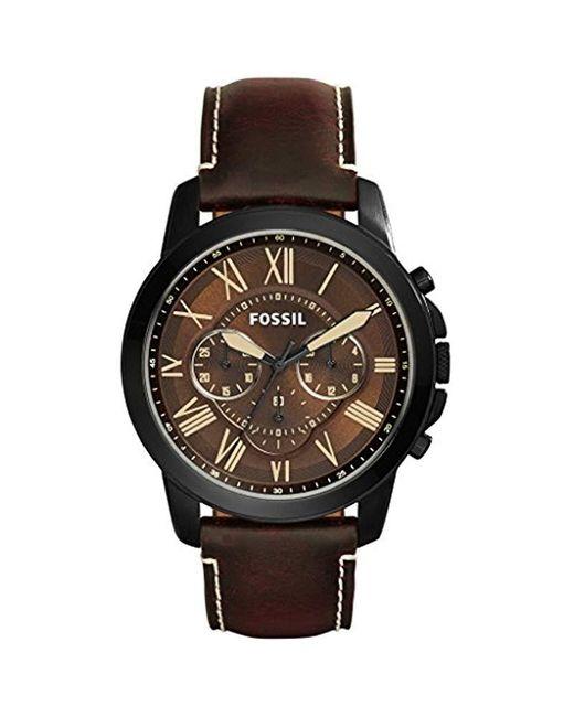 Horloge FS5088 Fossil pour homme en coloris Brown