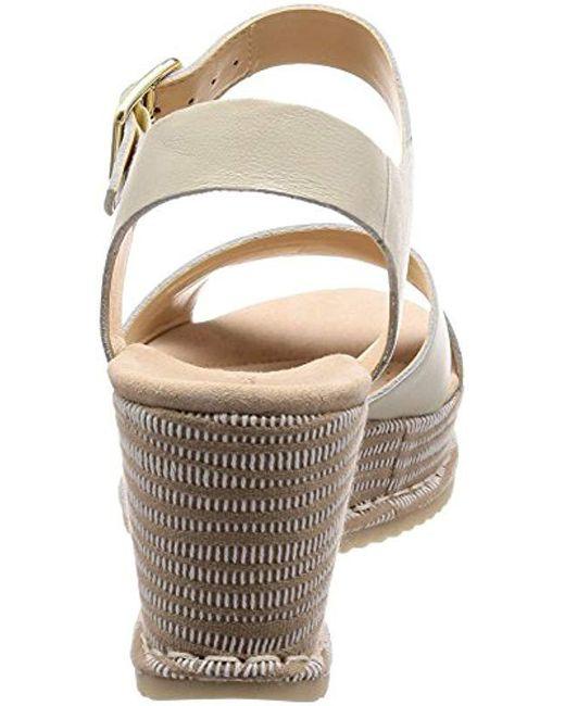 553e61f4666 ... Clarks - White Akilah Eden Ankle Strap Sandals - Lyst ...