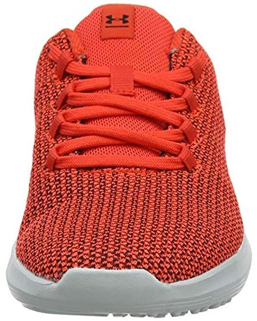 Under Armour Rubber Ripple Competition Running Shoes in Red