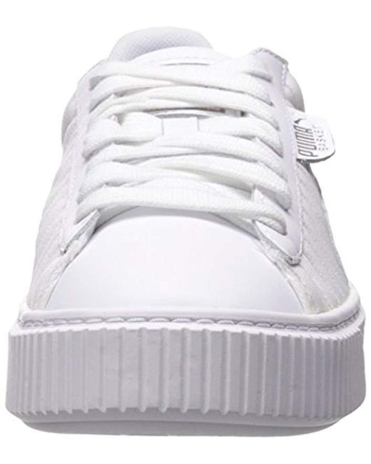 new arrivals 6e303 1edd4 Women's White Basket Platform En Pointe Wn Sneaker