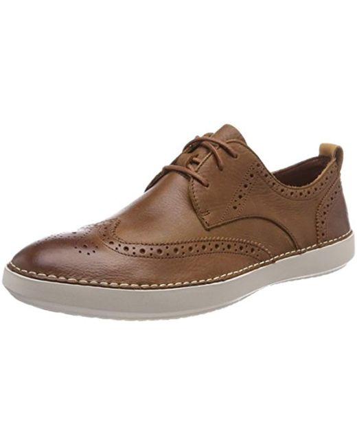 Komuter Run, Zapatos de Cordones Derby para Hombre de color marrón