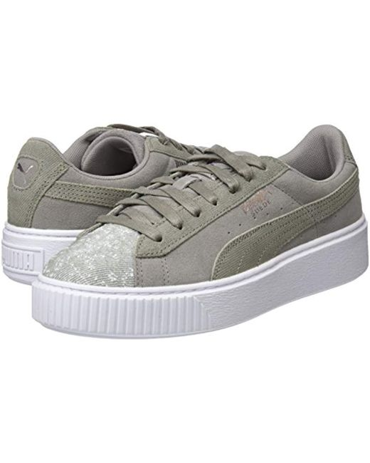 separation shoes 9c4fa 32236 PUMA Suede Platform Pebble Low-top Sneakers in Gray - Save ...