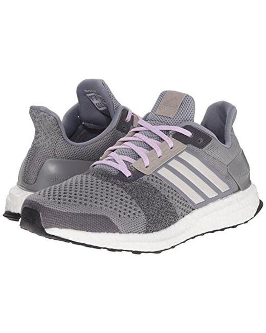 ... Adidas - Gray Performance Ultra Boost Street Running Shoe - Lyst ...