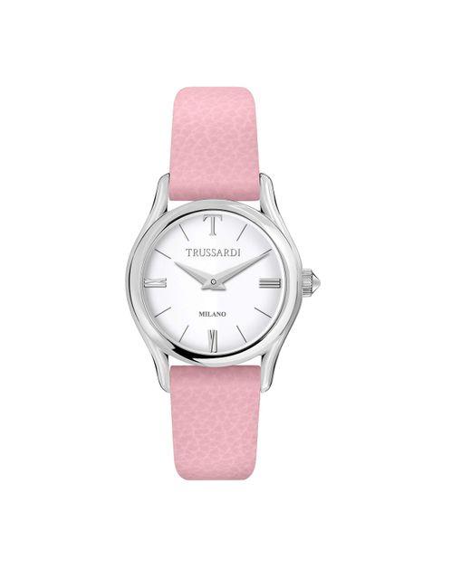 Orologio Analogico Quarzo Donna con Cinturino in Pelle R2451127505 di Trussardi in Pink