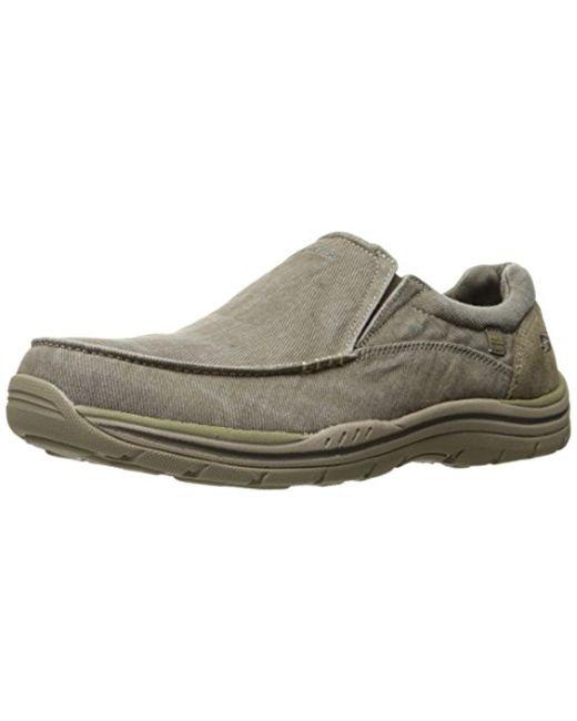 Skechers USA Men's Expected Avillo Slip-On Loafer, Khaki, 8.5 2W US