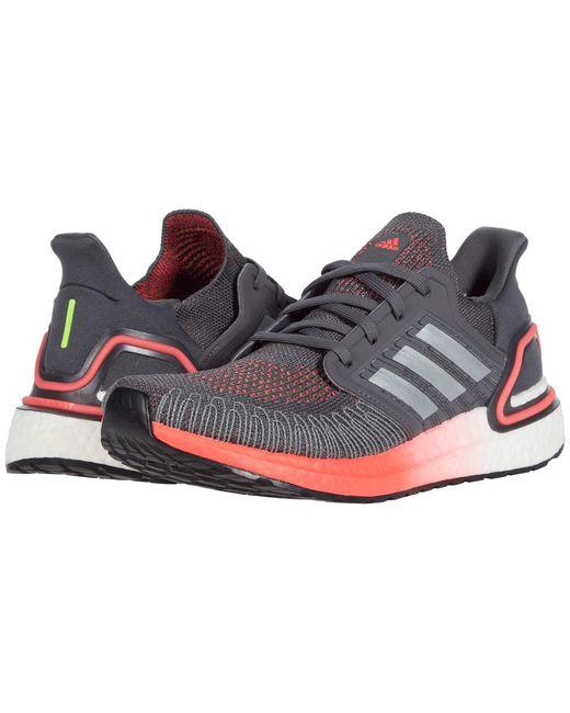 Adidas Multicolor Womens Ultraboost 20,grey/silver/signal Pink,7 M Us