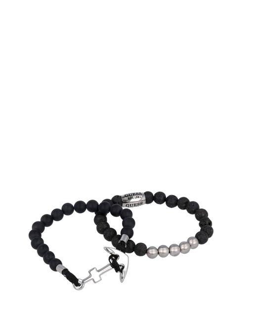 JUMS80049 Des bracelets NOIR GENERICA Guess pour homme en coloris Black