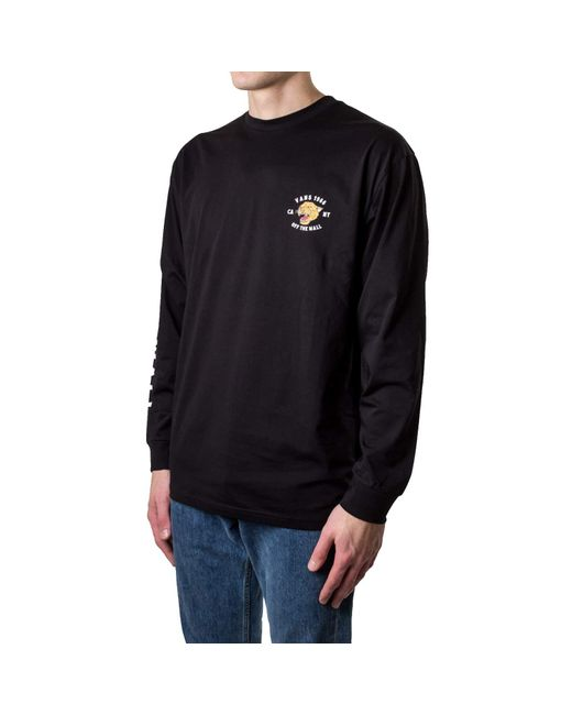 Mn Growler LS T-Shirt Nera da Uomo VN0A49TEBLK1 di Vans in Black da Uomo