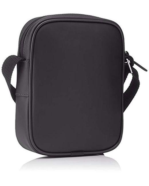 7a07d5e29a ... Lacoste - Black Sac Homme Access Basic Shoulder Bag for Men - Lyst ...