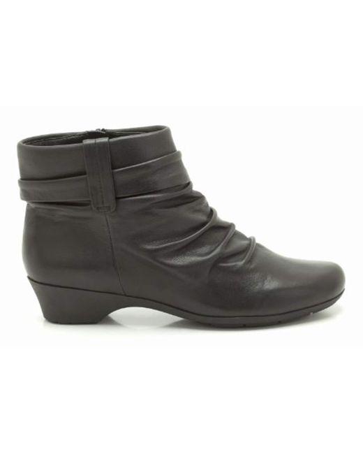 Clarks Ankle Boots Matron Ella Black Leather Lyst