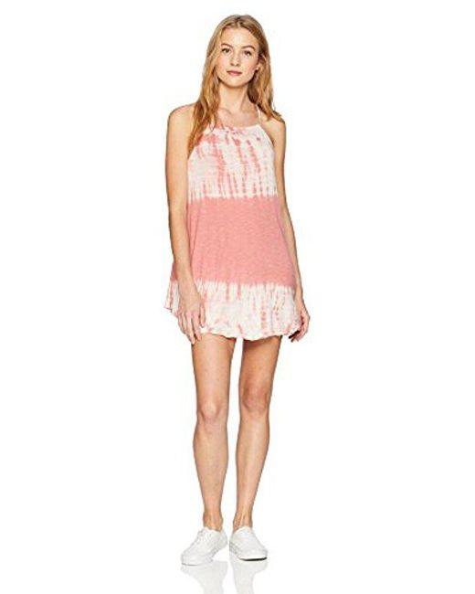 Billabong - Pink Turn Away Dress - Lyst
