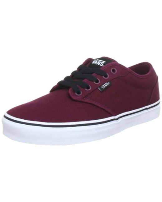 brand new 0bf68 e130f vans-Red-OxbloodWhite-Atwood-Canvas-Low-top-Sneakers.jpeg