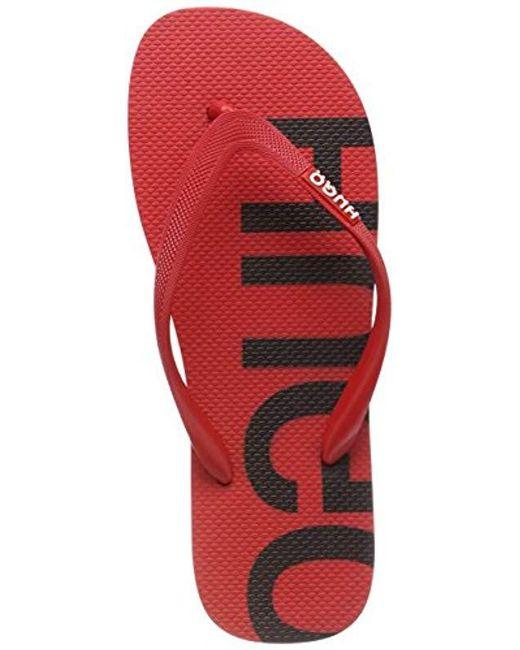 6fd07c2bd055 HUGO Onfire thng rblg Flip Flops in Red for Men - Save 26% - Lyst