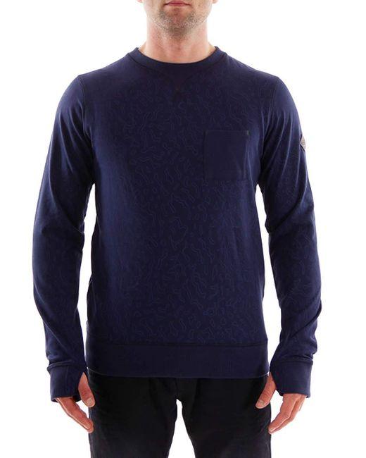O'neill Sportswear Fleecepullover Oberteil Pattern Hyperdry blau Rundhals Tasche in Blue für Herren