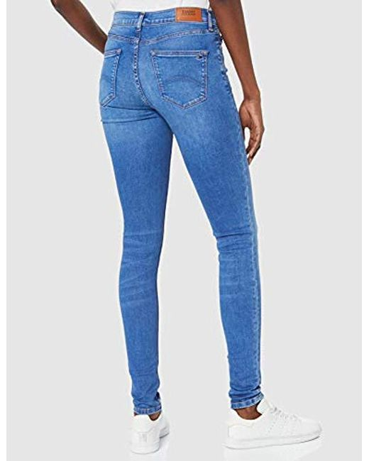 79a5940f ... Tommy Hilfiger - Blue Mid Rise Skinny Nora Azlb Jeans - Lyst ...