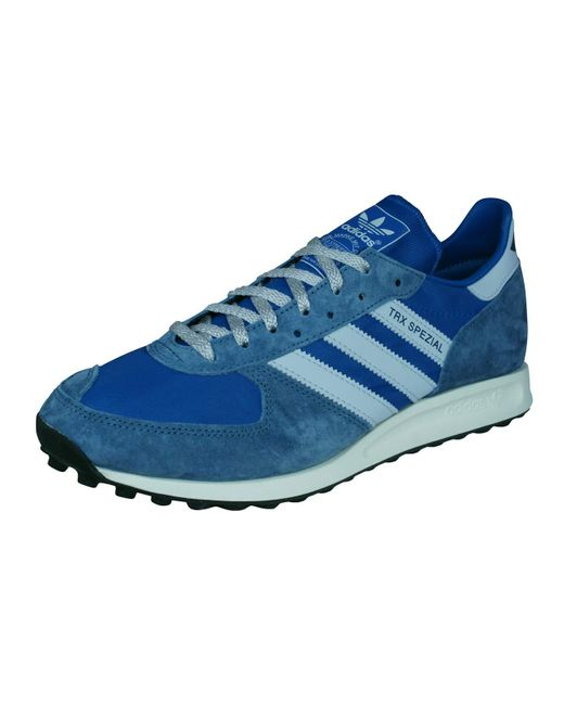Sostener Lesionarse Caracterizar  adidas Leather Sneakers Spezial Trx Blue Size 37 1/3 for Men - Save 22% -  Lyst