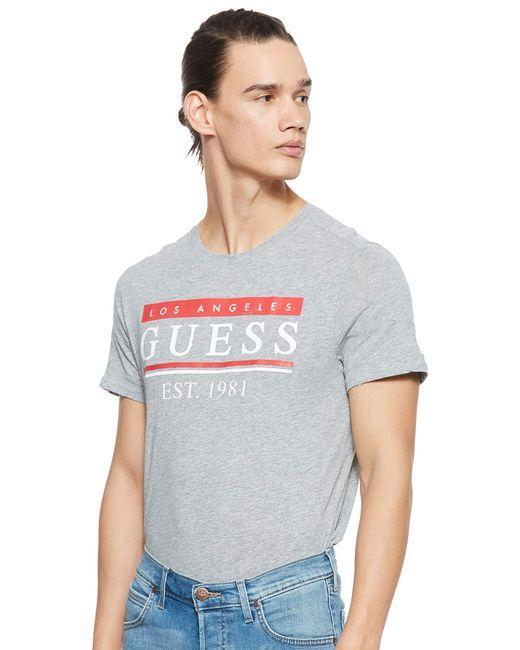 Cn SS 81 Stripes tee Camiseta de Tirantes Guess de hombre de color Gray