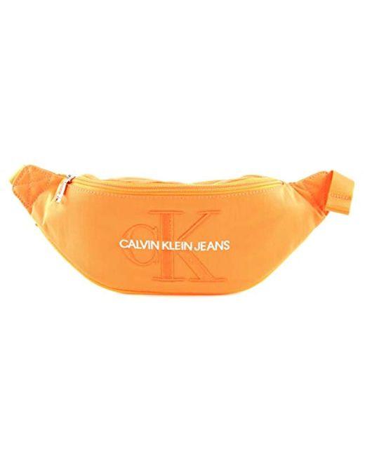 Calvin Klein Orange Ckj Monogram Nylon Street Pack Shoulder Bag for men