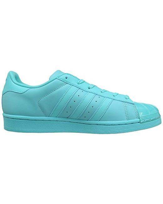 new style d3d91 cf337 Women's Blue Superstar Glossy Toe W Fashion Sneaker