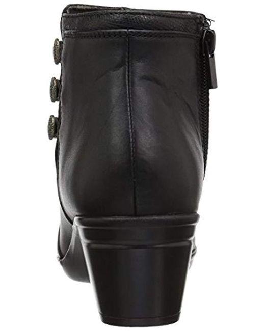 Clarks Leather Emslie Monet in Black Leather (Black) Lyst