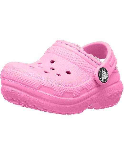 Classic Lined Clog K Crocs™ de color Pink