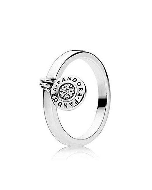 Pandora Metallic Silver Statement Ring - 197400cz-52