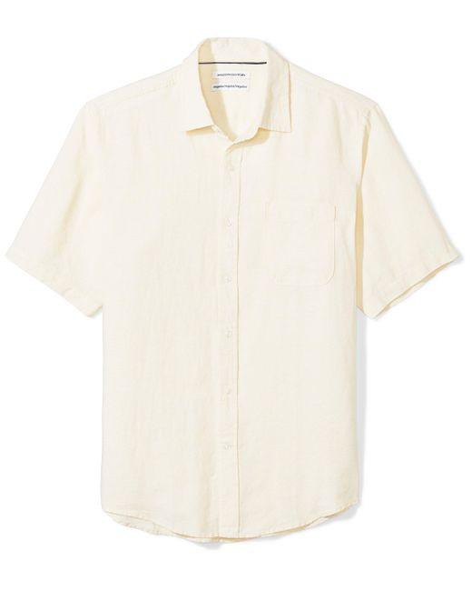 Camicia da uomo a maniche corte di Amazon Essentials in Yellow da Uomo