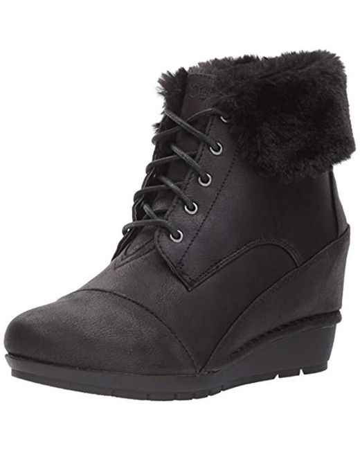 6a0d77f4cac9 Lyst - Skechers Bobs High Peaks-flurry Dust Ankle Boot in Black ...