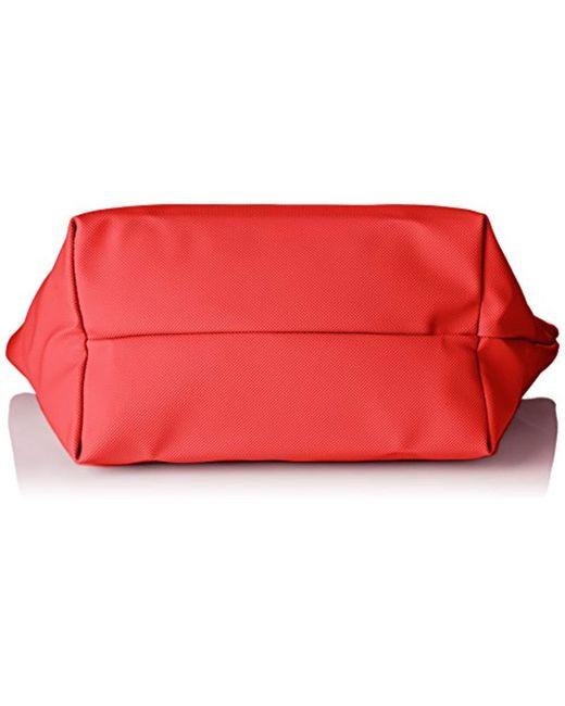 De Sac Coloris FemmeBandouliere Rouge Cuir Cabas tdChrsQ