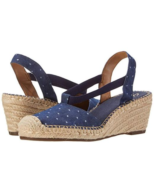 c0d1f6b08dd Clarks Synthetic Petrina Kaelie Espadrille Wedge Sandal in Blue ...
