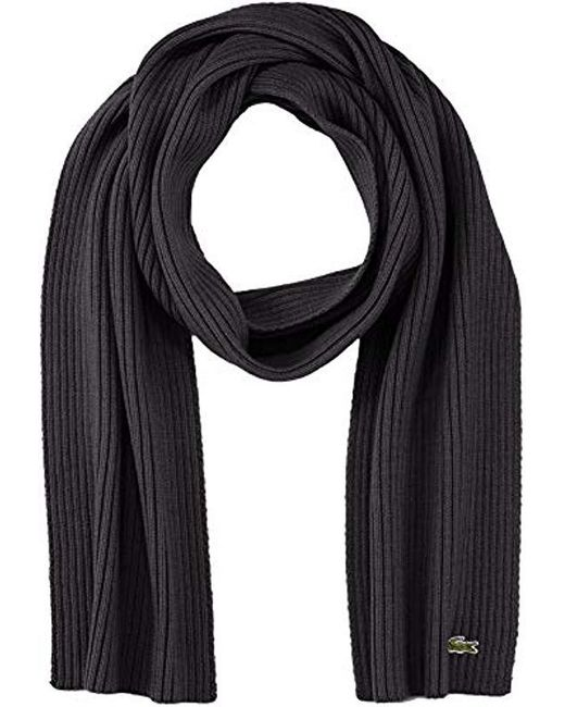 Echarpe - Lacoste pour homme en coloris Black